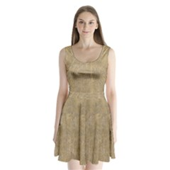 Abstract Forest Trees Age Aging Split Back Mini Dress