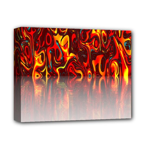 Effect Pattern Brush Red Orange Deluxe Canvas 14  x 11