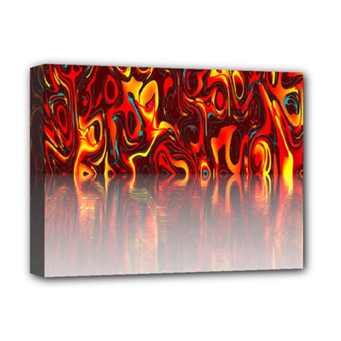 Effect Pattern Brush Red Orange Deluxe Canvas 16  X 12