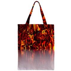 Effect Pattern Brush Red Orange Zipper Classic Tote Bag