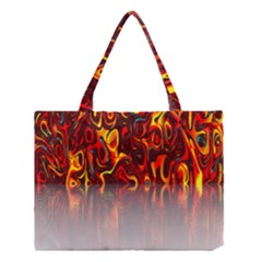 Effect Pattern Brush Red Orange Medium Tote Bag