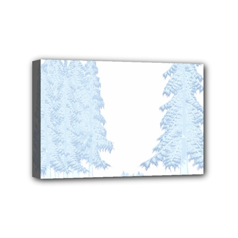 Winter Snow Trees Forest Mini Canvas 6  X 4