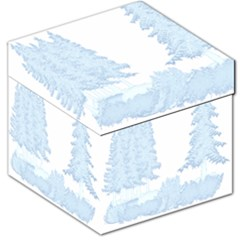 Winter Snow Trees Forest Storage Stool 12