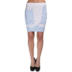 Winter Snow Trees Forest Bodycon Skirt