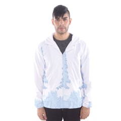 Winter Snow Trees Forest Hooded Wind Breaker (Men)