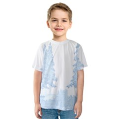 Winter Snow Trees Forest Kids  Sport Mesh Tee