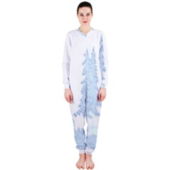 Winter Snow Trees Forest OnePiece Jumpsuit (Ladies)