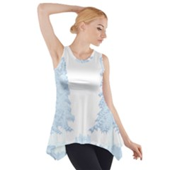 Winter Snow Trees Forest Side Drop Tank Tunic