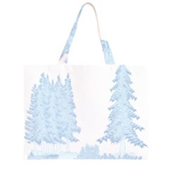 Winter Snow Trees Forest Large Tote Bag