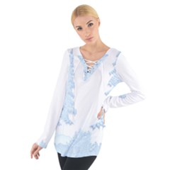 Winter Snow Trees Forest Women s Tie Up Tee