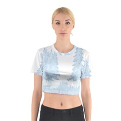 Winter Snow Trees Forest Cotton Crop Top