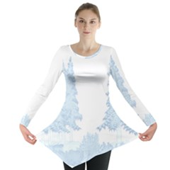 Winter Snow Trees Forest Long Sleeve Tunic