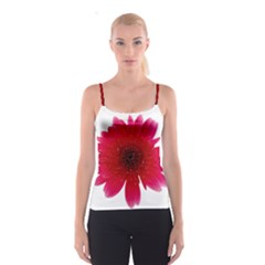 Flower Isolated Transparent Blossom Spaghetti Strap Top