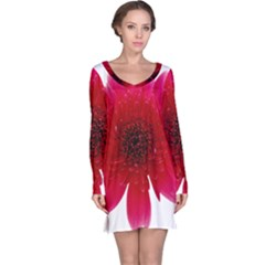 Flower Isolated Transparent Blossom Long Sleeve Nightdress