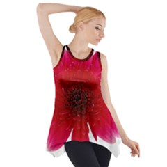 Flower Isolated Transparent Blossom Side Drop Tank Tunic