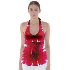 Flower Isolated Transparent Blossom Babydoll Tankini Top