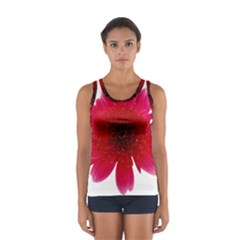 Flower Isolated Transparent Blossom Women s Sport Tank Top