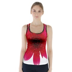 Flower Isolated Transparent Blossom Racer Back Sports Top