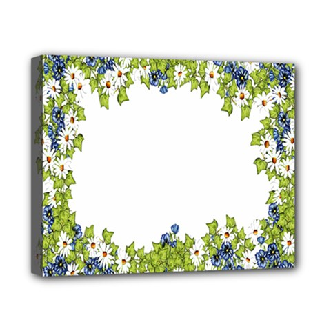 Birthday Card Flowers Daisies Ivy Canvas 10  X 8