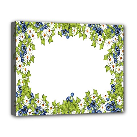 Birthday Card Flowers Daisies Ivy Deluxe Canvas 20  X 16