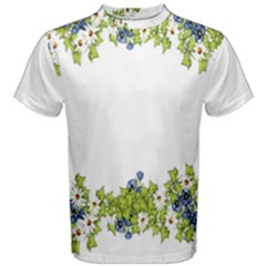 Birthday Card Flowers Daisies Ivy Men s Cotton Tee