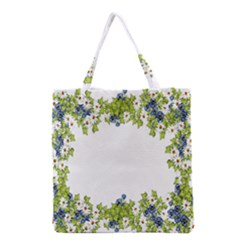 Birthday Card Flowers Daisies Ivy Grocery Tote Bag