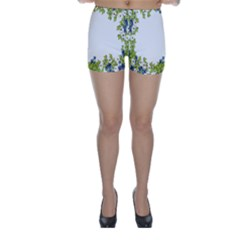 Birthday Card Flowers Daisies Ivy Skinny Shorts