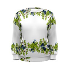 Birthday Card Flowers Daisies Ivy Women s Sweatshirt