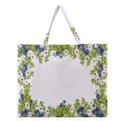 Birthday Card Flowers Daisies Ivy Zipper Large Tote Bag
