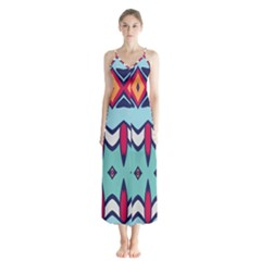 Rhombus Hearts And Other Shapes             Chiffon Maxi Dress
