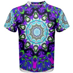 Graphic Isolated Mandela Colorful Men s Cotton Tee