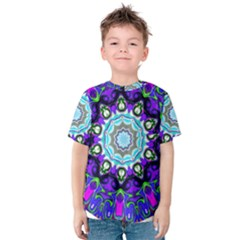 Graphic Isolated Mandela Colorful Kids  Cotton Tee