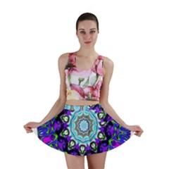 Graphic Isolated Mandela Colorful Mini Skirt