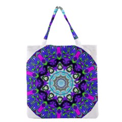 Graphic Isolated Mandela Colorful Grocery Tote Bag