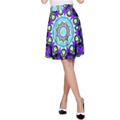 Graphic Isolated Mandela Colorful A-Line Skirt