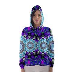 Graphic Isolated Mandela Colorful Hooded Wind Breaker (women)