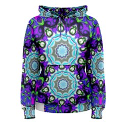 Graphic Isolated Mandela Colorful Women s Pullover Hoodie