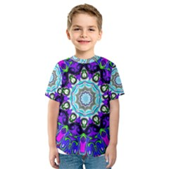 Graphic Isolated Mandela Colorful Kids  Sport Mesh Tee