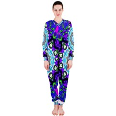 Graphic Isolated Mandela Colorful Onepiece Jumpsuit (ladies)