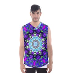 Graphic Isolated Mandela Colorful Men s Basketball Tank Top