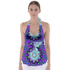 Graphic Isolated Mandela Colorful Babydoll Tankini Top