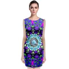 Graphic Isolated Mandela Colorful Classic Sleeveless Midi Dress