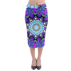 Graphic Isolated Mandela Colorful Midi Pencil Skirt