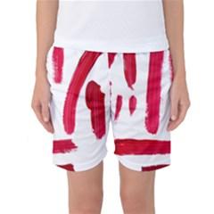 Paint Paint Smear Splotch Texture Women s Basketball Shorts