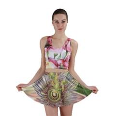 Passion Flower Flower Plant Blossom Mini Skirt