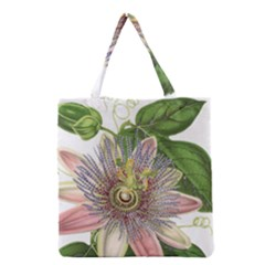 Passion Flower Flower Plant Blossom Grocery Tote Bag