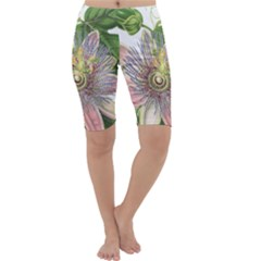 Passion Flower Flower Plant Blossom Cropped Leggings