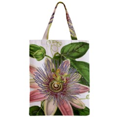 Passion Flower Flower Plant Blossom Zipper Classic Tote Bag
