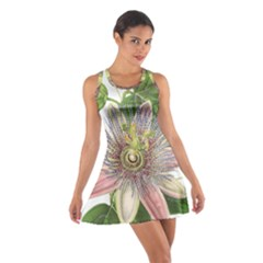 Passion Flower Flower Plant Blossom Cotton Racerback Dress