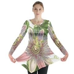 Passion Flower Flower Plant Blossom Long Sleeve Tunic